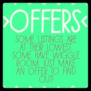 Reasonable offers are always welcome!